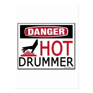 Hot Drummer Postcard