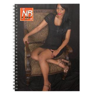 Hot Ebony Princess Spiral Notebooks