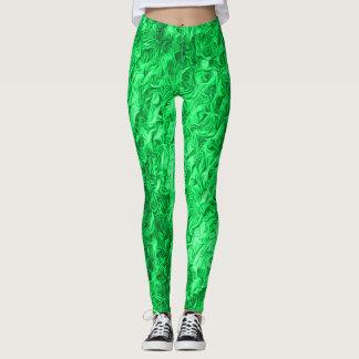Hot Emerald Rave Love Leggings