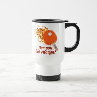 Hot Enough Flaming Ping Pong Stainless Steel Travel Mug