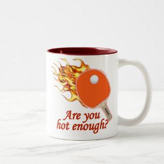 Hot Enough Flaming Ping Pong Two-Tone Mug