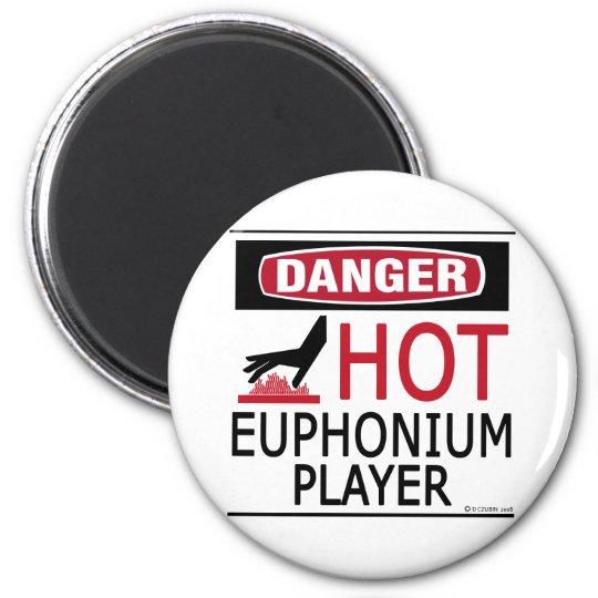 Hot Euphonium Player 6 Cm Round Magnet
