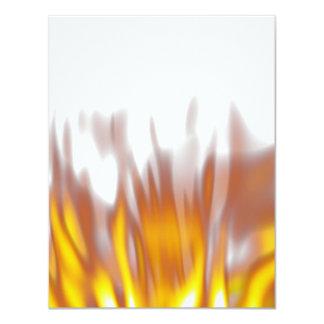 Hot Fiery Burning Flames 11 Cm X 14 Cm Invitation Card
