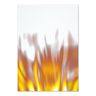 Hot Fiery Burning Flames 3.5x5 Paper Invitation Card