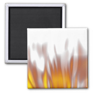 Hot Fiery Burning Flames Square Magnet