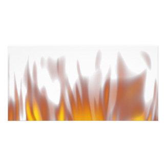 Hot Fiery Burning Flames Photo Card