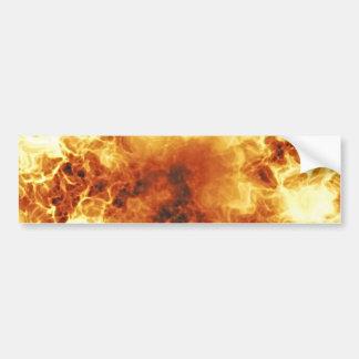 Hot Fiery Exploding Flames Car Bumper Sticker