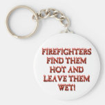 HOT FIREFIGHTERS BASIC ROUND BUTTON KEY RING