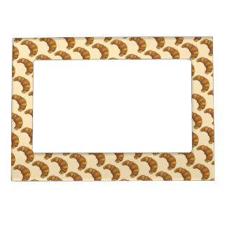 Hot Flaky Buttery Croissant French Pastry Foodie Magnetic Picture Frame
