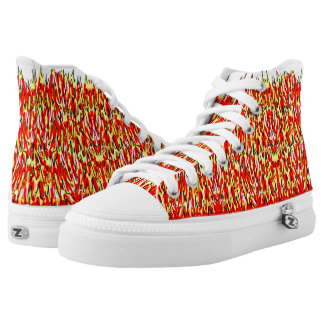 Hot Flaming Design Printed Shoes