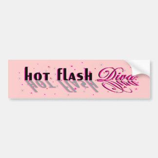 Hot Flash Diva Reflection Logo for light bkg Bumper Sticker