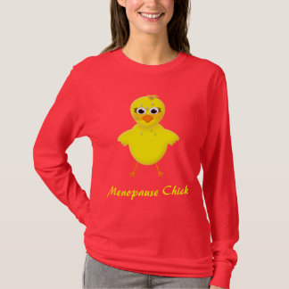 Hot Flash Menopause Chick Ladies Long-Sleeve Tee