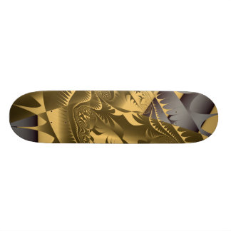 Hot Frac Designs by Leslie Harlow - Gold 20.6 Cm Skateboard Deck