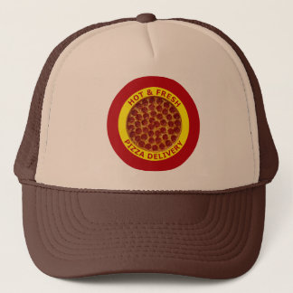 Hot & Fresh Pizza Delivery Trucker Hat