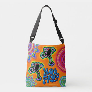 Hot Frog psychedelic cross body bag