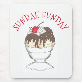 Hot Fudge Ice Cream Shoppe Sundae Sunday Funday Mouse Mat