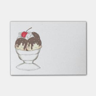 Hot Fudge Ice Cream Sundae Cherry Food Post Its Post-it® Notes