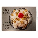 Hot Fudge Sundae - Dessert - Delicious - Yummy Card