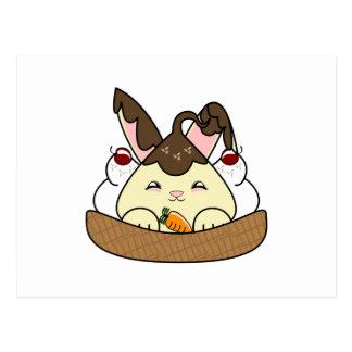 Hot Fudge Vanilla Hopdrop Waffle Sundae Postcard