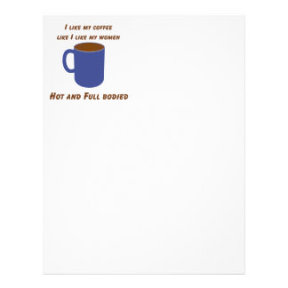Hot & Full bodied! Coffee like women tees & gifts 21.5 Cm X 28 Cm Flyer