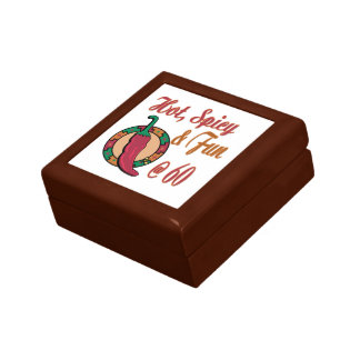 Hot, Fun and Spicy 60th Small Square Gift Box