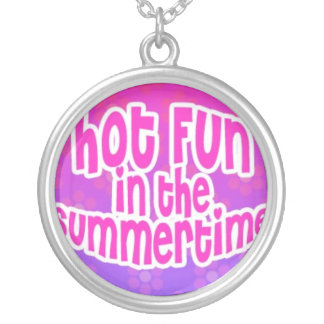 Hot Fun in The Summertime Pink and Purple Round Pendant Necklace
