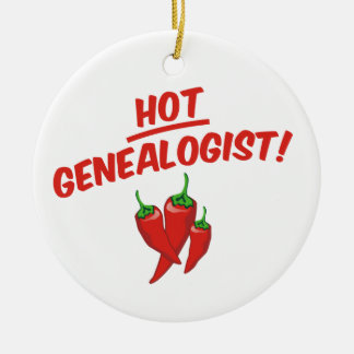 Hot Genealogist Christmas Ornament