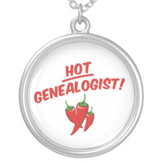 Hot Genealogist Round Pendant Necklace