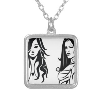 Hot girls personalized necklace