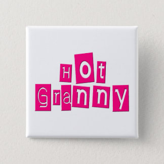 Hot Granny 15 Cm Square Badge