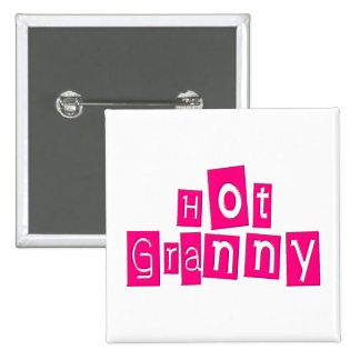 Hot Granny 15 Cm Square Badge