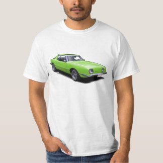 Hot Green AvanTee Classic American Car T-Shirt