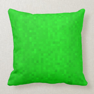 Hot Green Mosaic Tiles Pattern, Big Throw Cushion. Cushion