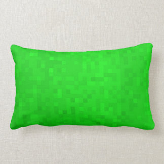 Hot Green Mosaic Tiles Pattern, Lumbar Cushion. Lumbar Cushion
