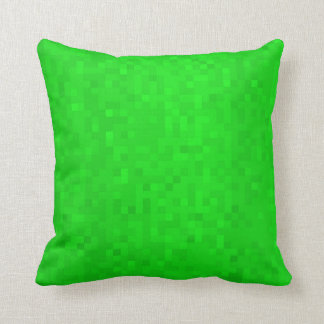 Hot Green Mosaic Tiles Pattern, Throw Cushion. Cushion