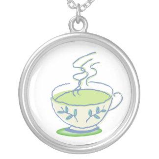 Hot Green Tea Necklace