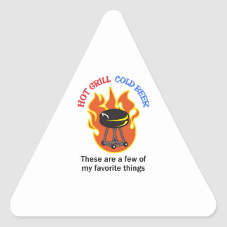 HOT GRILL COLD BEER TRIANGLE STICKER