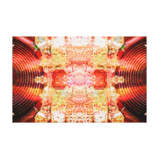 Hot grunge audio speakers canvas print