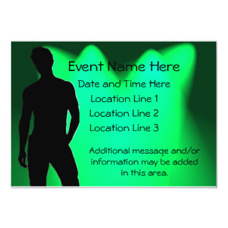 Hot Guy Party Invitations