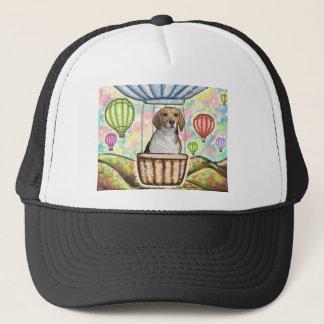 -hot hair balloon trucker hat