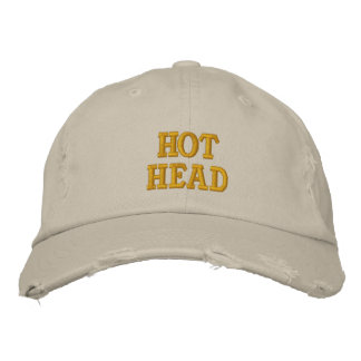 Hot Head Embroidered Baseball Caps