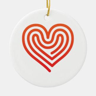Hot Heart Christmas Ornament