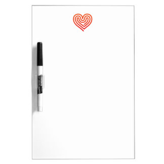 Hot Heart Dry Erase Boards