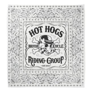 Hot Hogs™ Classic White Bandanna