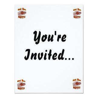 Hot Hot HOT Cascabel Peppers in Hand 11 Cm X 14 Cm Invitation Card
