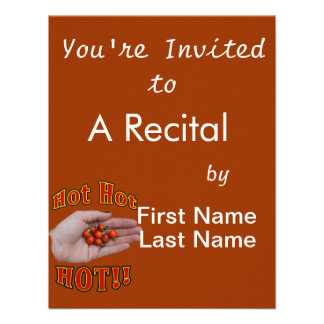 Hot Hot HOT Cascabel Peppers in Hand Custom Invite