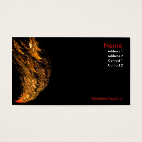 Hot hot hot! Feel the Heat Business Cards