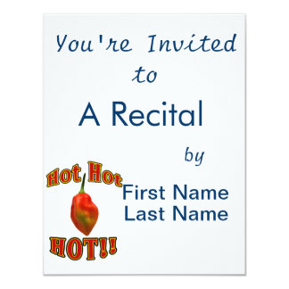 Hot Hot HOT Single Habanero Pepper 11 Cm X 14 Cm Invitation Card