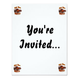 Hot Hot HOT Single Habanero Pepper in Hand 11 Cm X 14 Cm Invitation Card