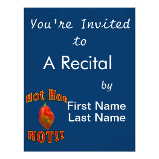 Hot Hot HOT Single Habanero Pepper Personalized Invite